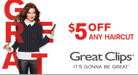 Great Clips $5 OFF Coupon Code